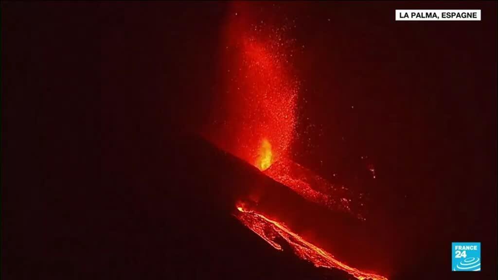 2021-09-27 16:14 Éruption aux Canaries : reprise de l'activité volcanique après une brève pause