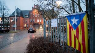 La prison de Neumuenster, dans le nord de l'Allemagne, où Carles Puigdemont est resté en détention.