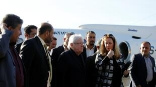 مبعوث الأمم المتحدة إلى اليمن مارتن غريفيث في صنعاء في 5 يناير/كانون الثاني 2019