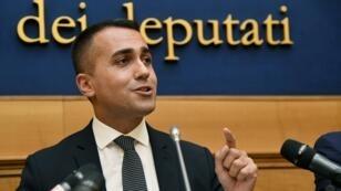 Luigi Di Maio, chef du M5S, lors d'une conférence de presse le 3 septembre 2019 à Rome.