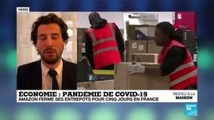 2020-04-16 09:08 Coronavirus : Amazon ferme ses entrepôts pour au moins cinq jours en France