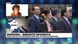 2019-12-10 23:10 Birmanie : Aung San Suu Kyi défendra son pays accusé de génocide