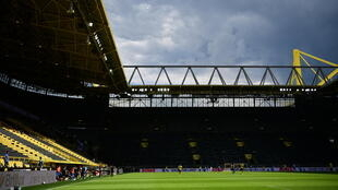 Borussia Dortmund's Signal Iduna Park was almost empty as the Bundesliga returned during the coronavirus pandemic