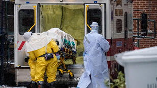 Dr Martin Salia, a surgeon infected with the Ebola virus while working in Sierra Leone, arrives at the Nebraska Medical Center on November 15, 2014