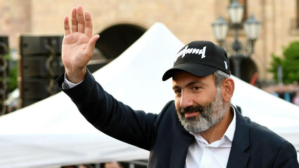 Nikol Pachinian,  élu mardi Premier ministre par le Parlement au terme de trois semaines de vives protestations antigouvernementales.