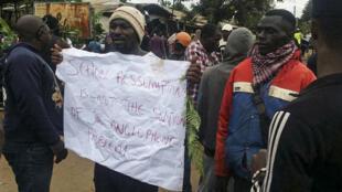 Des Camerounais anglophones manifestent contre les discriminations, le 22 septembre 2017 à Bamenda, au nord-ouest du Cameroun.