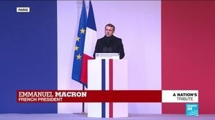 """2019-12-02 15:28 Macron says """"13 of France's sons were killed on impact"""""""