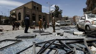 قصف استهدف حيا سكنيا في صنعاء في مايو 2018