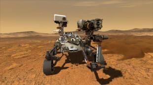 """صورة توضيحية أرستلها وكالة ناسا في 5 آذار/مارس 2020 تظهر المسبار """"برسيفيرنس"""" المتوقع هبوطه على المريخ في 2021"""