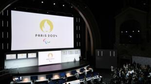 Une cérémonie de présentation des Jeux olympiques 2024, le 21 octobre 2019 au Grand Rex, à Paris