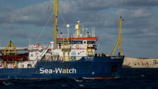 Le navire humanitaire Sea-Watch 3, le 9 janvier 2019.