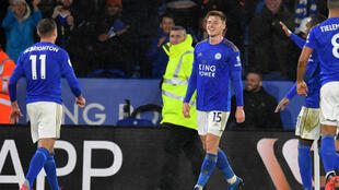 Harvey Barnes (C) scored the last goal in the Premier League on March 9 before it was put on hold due to the coronavirus crisis
