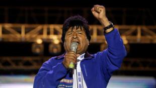 Evo Morales le 15 octobre 2019 à Santa Cruz.