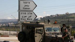Une partrouille de l'armée israélienne près des colonies d'Itamar et d'Eilon Moré. (archives)