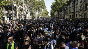 Government estimates said around 8,500 people turned out around France, 2,500 of them in Paris