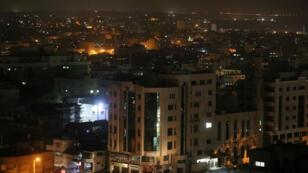 Vista general de la ciudad de Gaza, el día que comenzaron las protestas contra el aumento del costo de vida, el 14 de marzo de 2019.