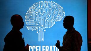 Des particiants à un congrès sur l'intelligence artificielle, à Bangalore, en Inde, le 4 avril 2017.