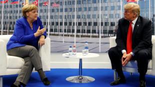 Angela Merkel y Donald Trump sostuvieron un encuentro bilateral a pesar de los comentarios adversos emitidos previamente.