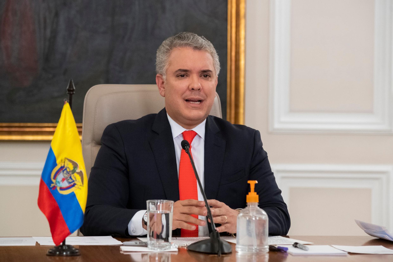 Presidente de Colombia, Iván Duque el 24 de agosto de 2020 en Bogotá, Colombia.
